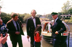 1246. Pinkerton launch ceremony. Robin Higgs, Lord Onslow, Lord Montague. 1978 REDUCED